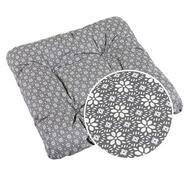 Sedák Adéla 40 x 40 cm, šedá kruhová kytička, sada 2 ks