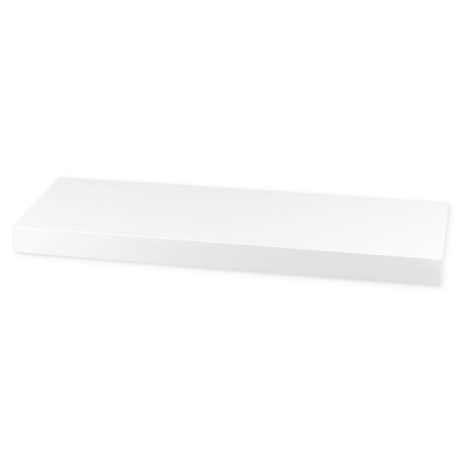Półka naścienna błysk 60 cm, biała, 60 cm