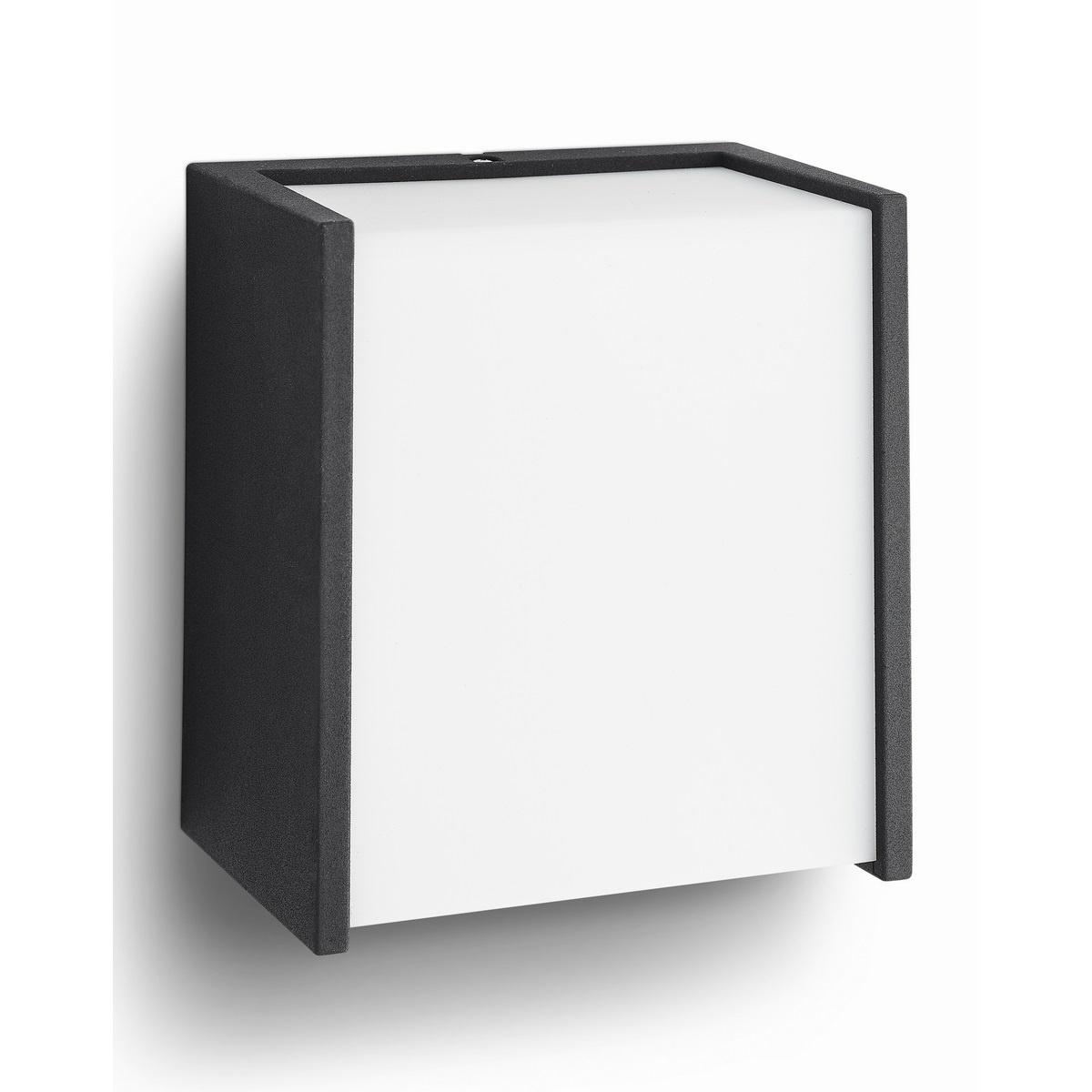 Philips 17302/30/P3 Macaw Vonkajšie nástenné LED svietidlo 13 cm, čierna