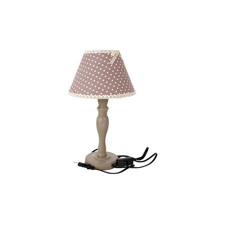 Stolní lampa se stínidlem puntík