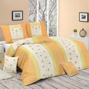 Bavlněné povlečení Benica oranžová, 140 x 200 cm, 70 x 90 cm
