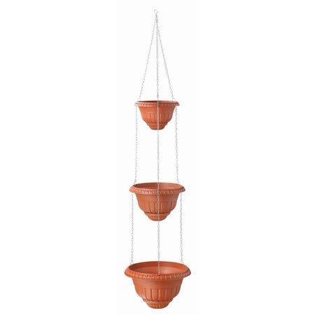 Plastový květináč Roma III, terakota