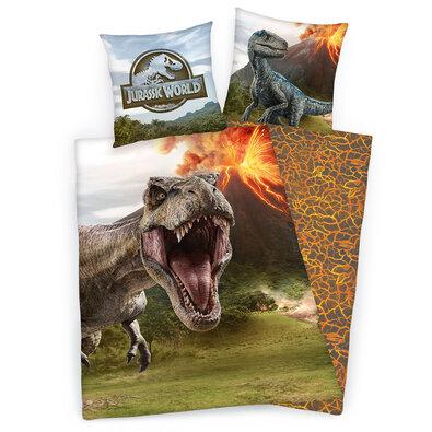 Jurassic World Magma gyerek ágyneműhuzat, 140 x 200 cm, 70 x 90 cm