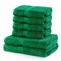 DecoKing Zestaw ręczników Marina zielony, 4 szt. 50 x 100 cm, 2 szt. 70 x 140 cm