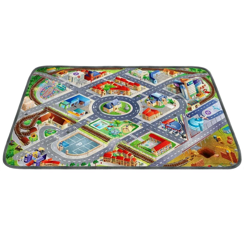Vopi Dětský koberec Ultra Soft Letiště, 130 x 190 cm
