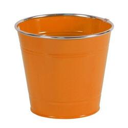 Obal na květiny kovový, oranžový