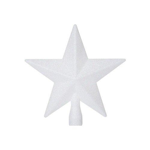 Glitter star karácsonyfa csúcsdísz, fehér