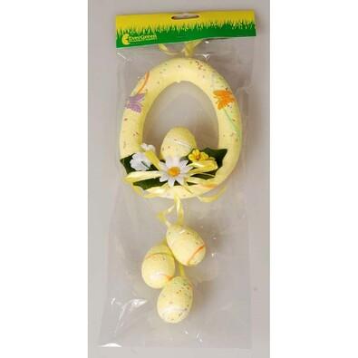 Závěsná velikonoční dekorace vejce, sada 2 ks