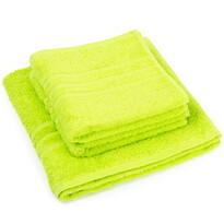 Sada ručníků a osušky Classic zelená, 2 ks 50 x 100 cm, 1 ks 70 x 140 cm
