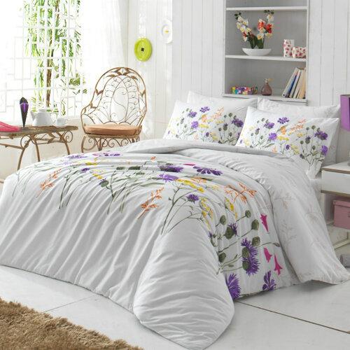 Tip Trade Bavlnené obliečky Nergiz Lila, 140 x 220 cm, 70 x 90 cm