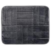Covoraș de baie, cu spună cu memorie, Pătrate, negru, 50 x 80 cm