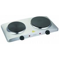 Orava VP-902 AS elektrický vařič, 2 topné plotny, stříbrná