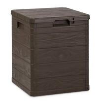 Skrzynia do przechowywania na pokrowce Woody,brązowy, 90 l