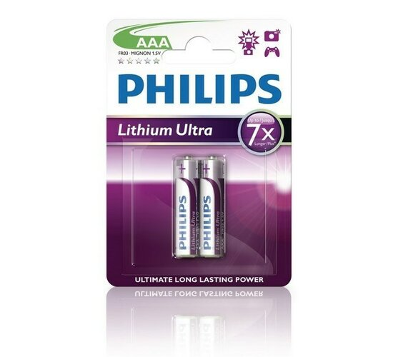 Batérie Philips Lithium Ultra AAA 2 ks blister