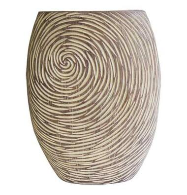 Váza v přírodních světlých barvách 35 cm