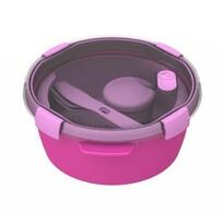 Curver SMAR TO GO kerek doboz  evőeszközzel, 1,6 l, lila