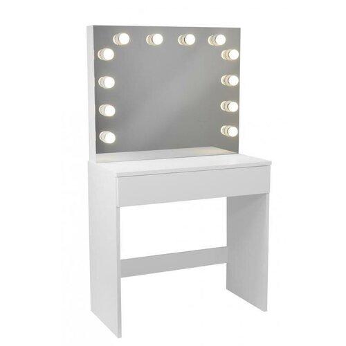 ALDO Toaletní kosmetický stolek Gabina 80x40x140cm se zrcadlem