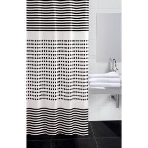 Koopman Sprchový závěs Darja černá, 180 x 180 cm