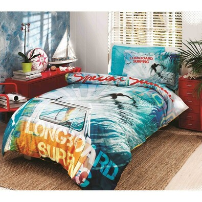 Bavlněné povlečení Malibu, 140 x 200 cm, 60 x 80 cm
