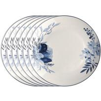 Altom Talerz deserowy porcelanowy Infinity Blue, 20 cm, 6 szt.