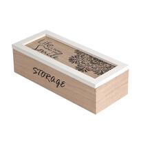 Cutie din lemn Altom pentru articole mici Mandala, 24 x 10 x 7 cm