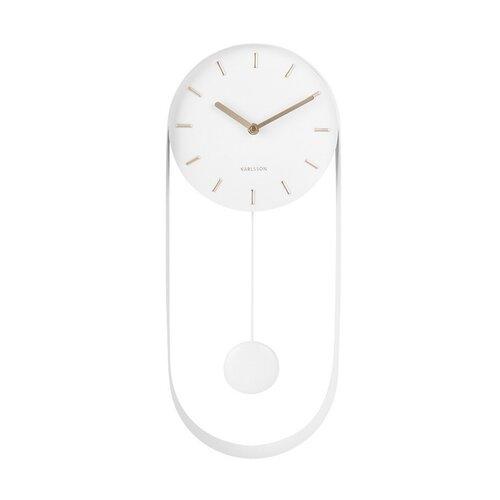 Karlsson 5822WH Dizajnové kyvadlové nástenné hodiny, 50 cm