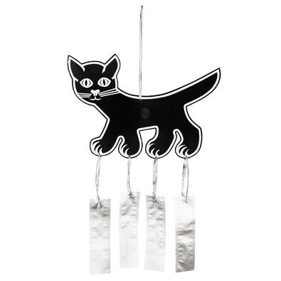 Plastia Strašák na ptáky kočka 41 x 28 cm černá