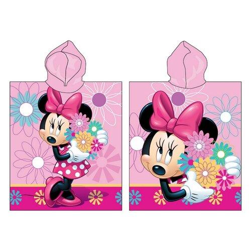 Jerry Fabrics Ponczo dziecięce Minnie Flower 018, 50 x 115 cm