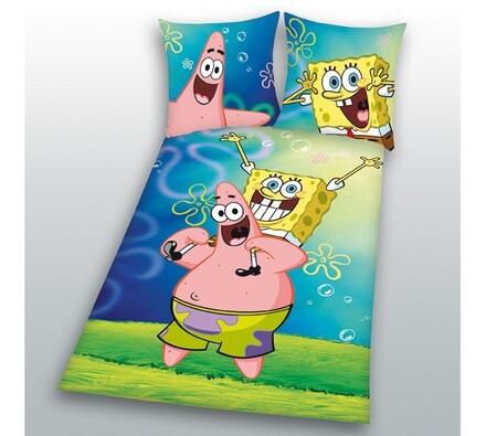 Dětské povlečení Spongebob, 140 x 200 cm, 70 x 90 , vícebarevná, 140 x 200 cm, 70 x 90 cm
