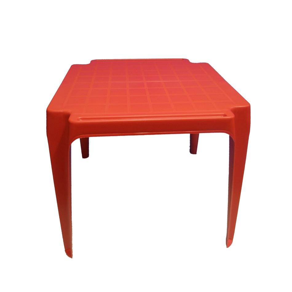 Dětský stůl, červená