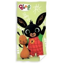 Osuška Zajačik Bing a Flop na prechádzke, 70 x 140 cm