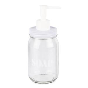 Skleněný dávkovač mýdla Soap, bílá