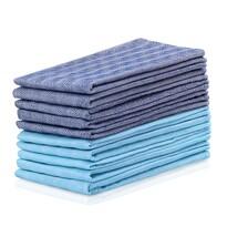 DecoKing Kuchyňská utěrka Louie modrá, tyrkysová, 50 x 70 cm, sada 10 ks