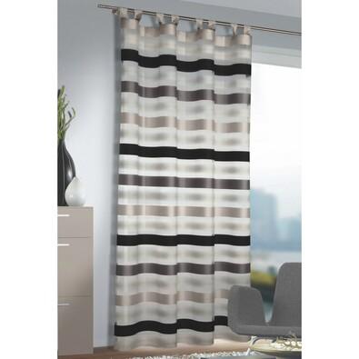 Záclona s poutky Katie stříbrná, 140 x 245 cm
