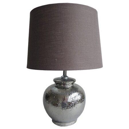 Stardeco Stolní lampa stříbrná 45 cm