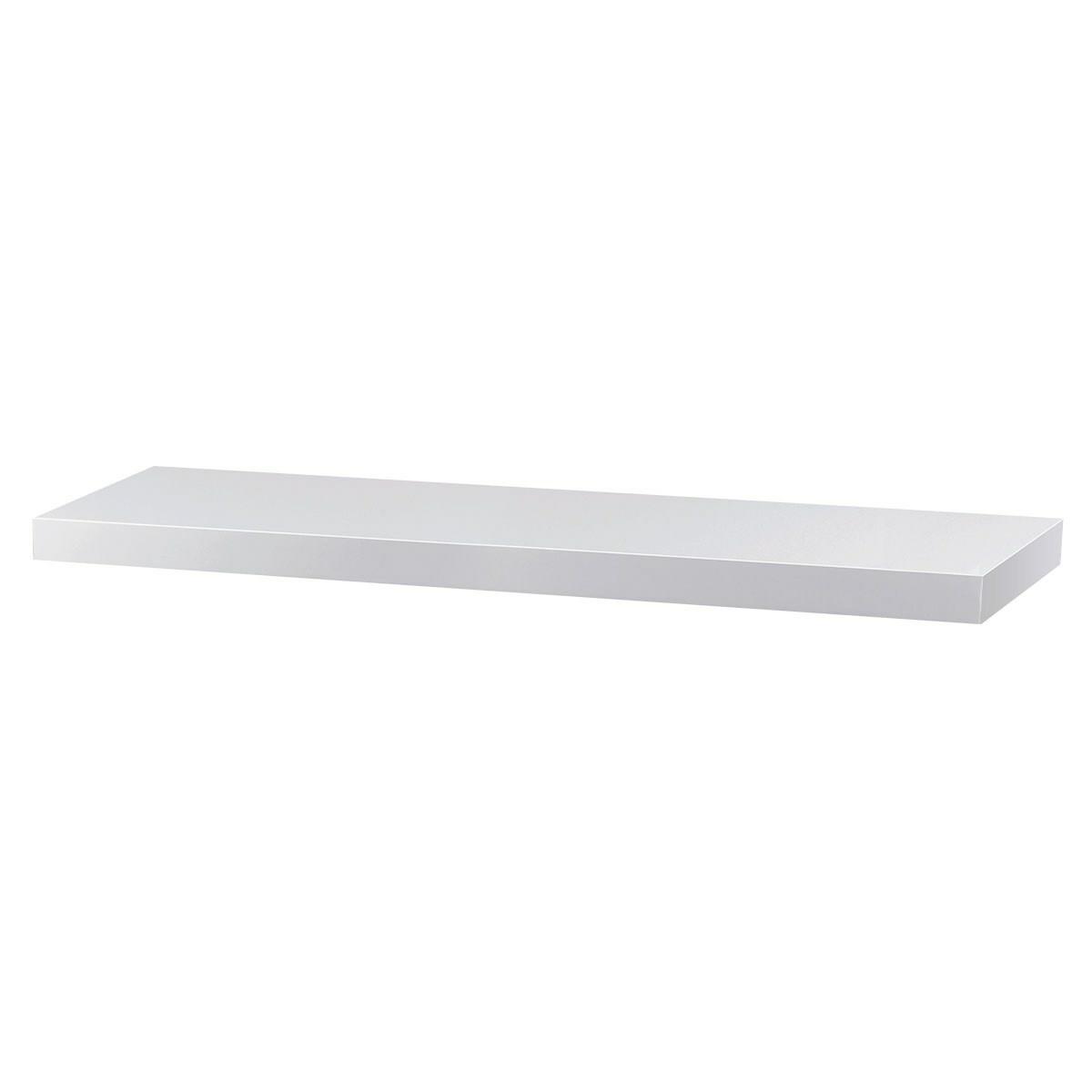 Nástěnná polička bílá matná, 90 cm