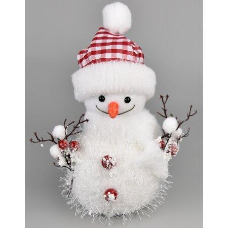 Vánoční dekorace Bonhomme de neige, 23 cm