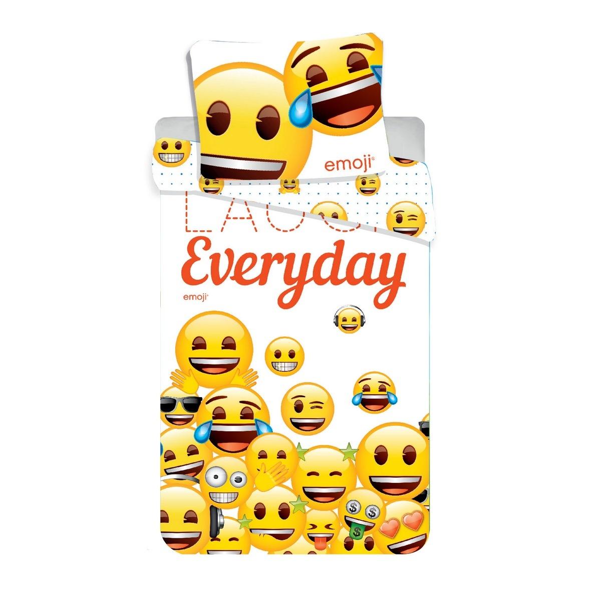 Jerry Fabrics Dětské bavlněné povlečení Emoji 213, 140 x 200 cm, 70 x 90 cm