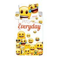 Lenjerie de pat Jerry Fabrics Emoji 213, de copii, din bumbac, 140 x 200 cm, 70 x 90 cm
