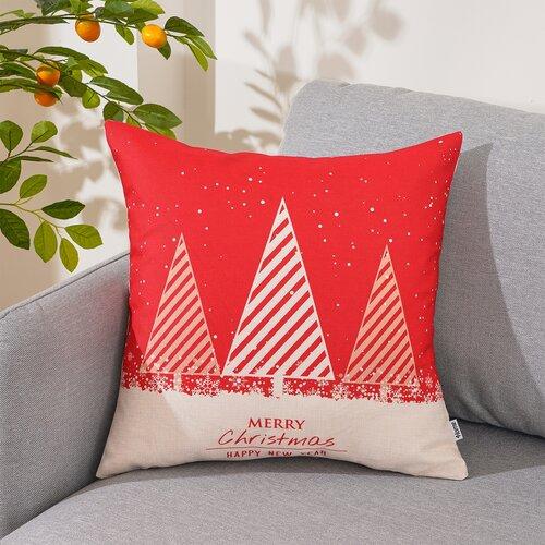 4Home karácsonyi párnahuzat Happy Tree, 45 x 45 cm