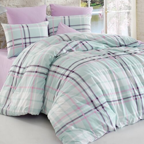 Bedtex povlečení bavlna Scotch Lila, 220 x 200 cm, 2 ks 70 x 90 cm