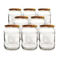 Orion Sada zavařovacích sklenic s víčkem Včela 0,73 l, 8 ks