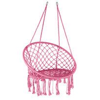 Domarex Wiszący fotel-huśtawka Luna różowy, 60 x 80 x 120 cm