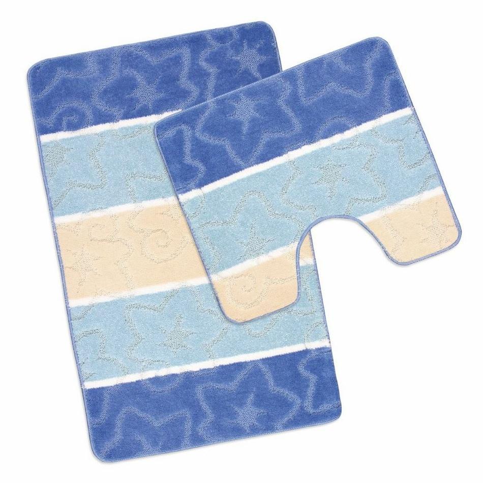 Bellatex Sada koupelnových předložek Avangard Orion modrá, 50 x 80 cm, 50 x 40 cm