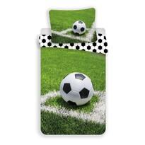 Lenjerie de pat din bumbac pentru copii Minge de fotbal, 140 x 200 cm, 70 x 90 cm