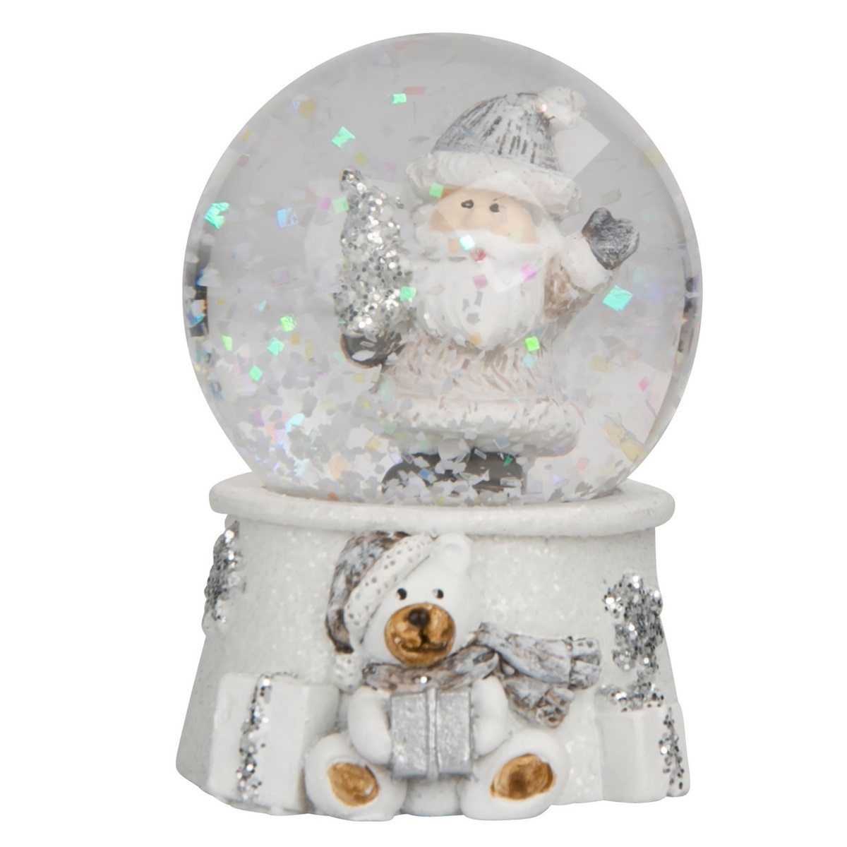 Atom Vánoční sněžítko Santa, 4,5 x 6,5 cm