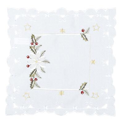 Vánoční ubrus Cesmína, 35 x 35 cm
