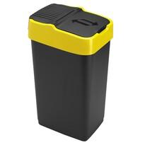 Heidrun Odpadkový koš 35 l, se žlutým pruhem