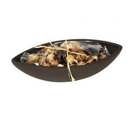 Sušená dekorace lodička, hnědá, hnědá, 13 x 28 x 8 cm