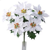 Sztuczna bożonarodzeniowa Poinsecja, biały, 30 m